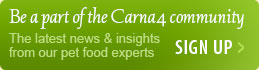 Be a part of the Carna4 community. Get the latest news and insights from our pet food experts.